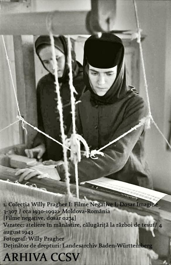 1. Varatec ateliere în mănăstire călugăriță pe război 4 august 1943 Colecția Willy Pragher
